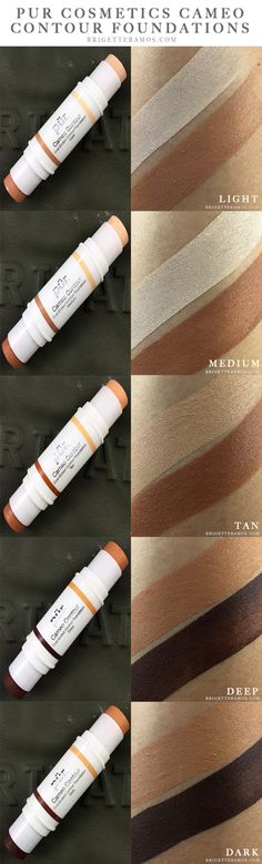PUR Cosmetics Cameo Contour Dual Ended Foundation Swatches | more on brigetteramos.com