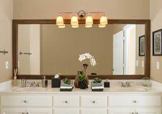 Bathroom mirror - framed