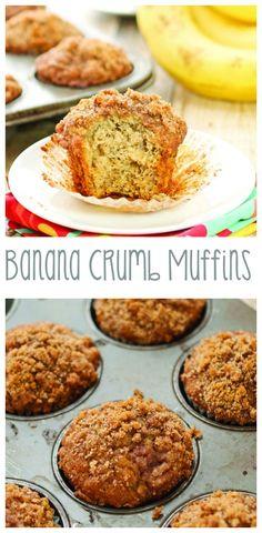 Banana Crumb Muffins | From: sweetpeaskitchen.com