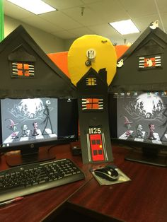 nightmares before christmas office decorations - Office Halloween Decor