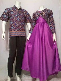 Model Baju Gamis Batik Kombinasi Sifon  Trend Baju Batik Terbaru