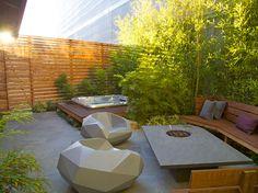 0.-dusk Modern Landscape Design, Modern Landscaping, Design Projects, Home Improvement, Yard, Garden Design, Outdoor Decor, Outdoor Furniture Sets, Building Design