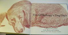 Lovely dachshund book! View from the Birdhouse: Dear Abby: David Hockney's Dog Days