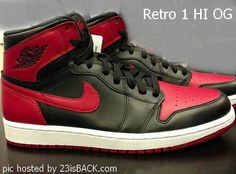d353e69beb1dd4 Here is a new image of the 2013 Air Jordan 1 Retro High OG Black  Red  Sneaker which I am sure will be impossible to get for retail whenev.