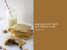 Baklava Pop Tarts with Maple Icing