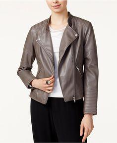 cb02d32e7ffe Bar III Faux-Leather Moto Jacket