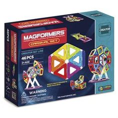 Magformers Carnival set - 46 dele Kreativt magnetisk legetøj - Byg karruseller og gynger i 3D