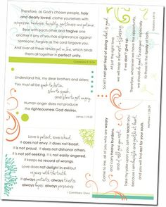 {printable scripture cards} Love this.