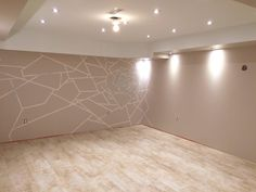 Can you see the Abstract Rose on the far wall.Trim to be installed. Basement Bathroom, Bathroom Interior, Interior Paint, Floor Finishes, Home Renovation, Floors, Tile Floor, Living Spaces, Abstract