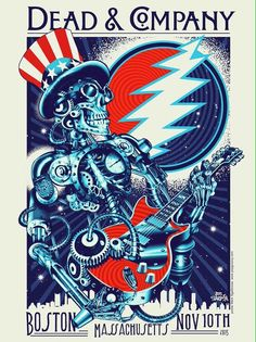Gig posters, flyers and handbills from around the world! Grateful Dead Image, Grateful Dead Poster, Rock Posters, Band Posters, Music Posters, Phil Lesh And Friends, Dead And Company, Boston, Music Artwork