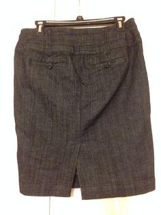 Back of denim skirt