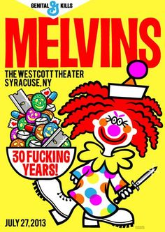 Melvins Poster by Weird Beard