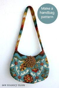 How to Make a Handbag Pattern | AllFreeSewing.com