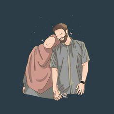 slamic anime ve tesett r Love Cartoon Couple, Cute Couple Art, Cute Muslim Couples, Cute Couples, Muslim Pictures, Muslim Couple Photography, Photography Poses, Wedding Photography, Hijab Drawing