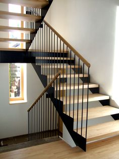 Minimalist Architecture, Interior Architecture, Stair Kits, Frameless Glass Balustrade, Oak Framed Buildings, Concrete Stairs, Floating Staircase, Cottage Renovation, Modern Stairs