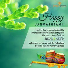 Wishing you a very Happy Janmashtami. #HappyJanmashtami #Janmashtami #Wishes #Biowonder #Biophilic #CorporatePark #Kolkata #Nature