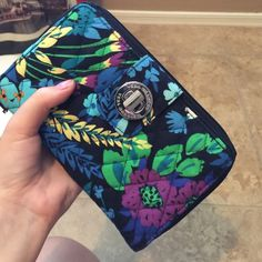 "ON HOLD - Vera Bradley wallet Great condition, midnight blues pattern, silver turn buckle to open, lots of compartments and storage. dimensions: 7 3/4"" w by 4 3/4"" h Vera Bradley Bags Wallets"