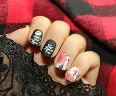 İtaliano Nails Black Nailpolish / Siyah Oje Wetnwild Black Cream Stamping Plate / Baskidaki Kalip @moyou_london by ojederyasi