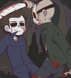 DeviantArt gallery Michael and Jason by Horror Movies Funny, Classic Horror Movies, Horror Films, Scary Movies, Horror Art, Disney Horror, Michael Myers And Jason, Scary Movie Characters, Halloween Men