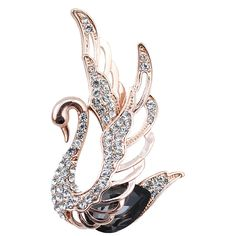 Brooches  3 colors choose rhinestone and crystal swan brooches for women 18k plated elegant animal pins and brooches fashion jewelry * This is an AliExpress affiliate pin.  Details on product can be viewed on AliExpress website by clicking the VISIT button
