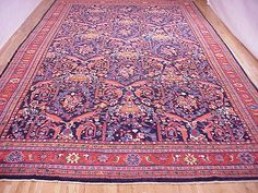 "Persian: Floral 20' 9"" x 12' 8"" Antique Sultanabad at Persian Gallery New York - Antique Decorative Carpets & Period Tapestries"