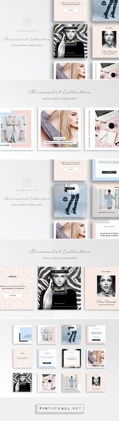 Social Media Templates for Instagram - Photoshop Template - Fully Layered