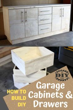 Statistics show that only 30% of us store our cars in the garage. The reason? Too much stuff. So how do we keep our garage organized? What's the optimal solution that works best for me? So, I decided to start with building DIY Garage Cabinets with Drawers. #diy #freeplans #projects #homedecor #interior #furniture #woodproject #cabinet#doityourself #homeimprovement #storage #garage