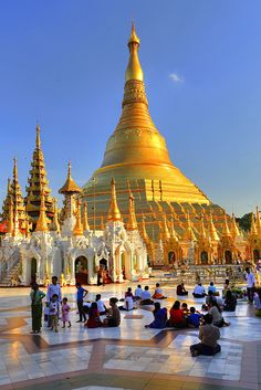 Marble terrace of the Shwedagon pagoda with believers, Yangon, formerly Rangoon, Myanmar, Asia Myanmar Travel, Burma Myanmar, Asia Travel, Yangon, Tourist Places, Places To Travel, Temples, Laos, Taj Mahal