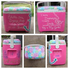 Painting a cooler for girls weekend at your lake house with your sisters! TSM.