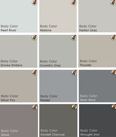 Recommended palette of grey Benjamin Moore Paints from interview on Design Crisis by Amber Grace