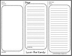 Printable stationery for sponsored kids!!
