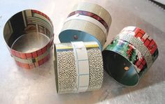 Industrial Chic Tin Napkin Rings-Building by eaststreettins