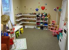 toy/play therapy miniatures in the corner