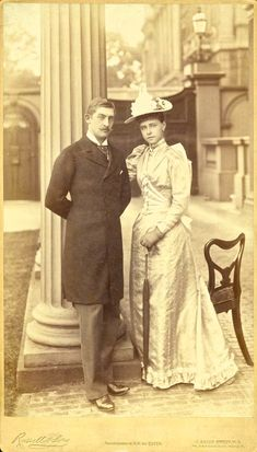 "antique-royals: ""Crown Prince Ferdinand of Romania and fiancee Princess Marie of Edinburgh "" Queen Victoria Family, Victoria Reign, Princess Victoria, Ferdinand, Historical Clothing, Historical Photos, Michael I Of Romania, Romanian Royal Family, Royal Photography"