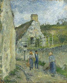 Camille Pissarro (1830-1903) Rue des Roches at Velhermeil, Auvers-sur-Oise 1880. Oil on canvas. 45,8 x 37,8 cm. Private collection.