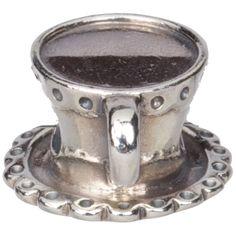 PANDORA Cup and Saucer Charm, Silver, 790361, tea_cup - Pandora Mall of America, MN