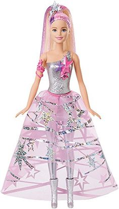 Based on the space fantasy movie Barbie Star Light Adventure this gorgeous Barbie doll is out of this world! Join Barbie and her friends as they travel through a galaxy of sparkling stars and colorfu...