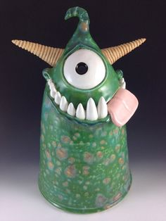 """Claymonster Original - Kookie Guardian - """"Dairy"""" Ceramic Monsters, Clay Monsters, Ceramic Animals, Clay Projects, Clay Crafts, Cute Fantasy Creatures, Pottery Workshop, Cute Clay, Pottery Classes"""