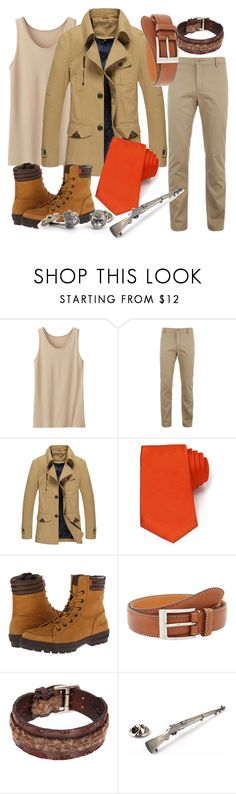 """Clayton Tarzan"" by abstractdisney ❤ liked on Polyvore featuring Uniqlo, Lacoste, Turnbull & Asser, Levi's, Trafalgar, John Varvatos, men's fashion and menswear"