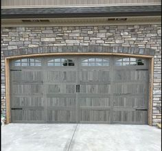 Gray Garage Door Clopay Canyon Ridge Collection Faux