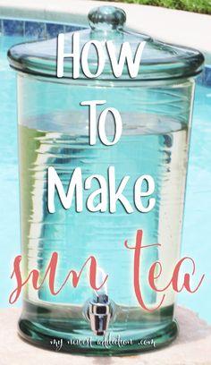 Celebrate Summer: How To Make Sun Tea www.mynewestaddiction.com #TEArifficPairs #shop #cbias