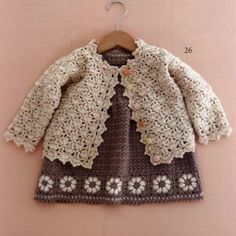Crochet For Children: Little Girl Crochet Cardigan - Free Crochet Diagra...