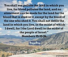 Numbers 35:33-34