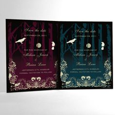 Halloween Wedding Save the Date Cards Elegant by ALookOfLove, $25.00
