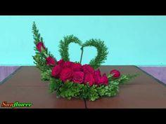Cắm Hoa Để Bàn Đơn Giản - Hoa Trái Tim #3 - YouTube Church Altar Decorations, Backdrop Decorations, Diy Wedding Decorations, Flower Decorations, Church Flower Arrangements, Beautiful Flower Arrangements, Floral Arrangements, Beautiful Flowers, Silk Flowers