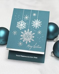 Snowflakes die, emboss, winter, Holiday Card (XFE1226-166 - Exquisite Greetings)…
