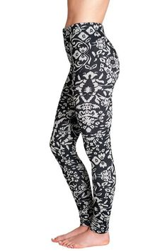 Soxxy Socks Leggings Chelsea. Fun and chic black and white floral print. Sandals, boots and sneakers all work with the Chelsea leggings. $45