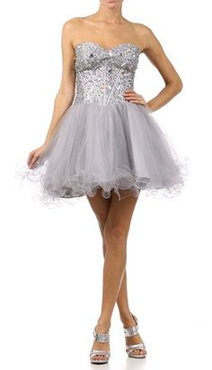 Grey/silver dama dresses   Quinceanera Theme   Pinterest   Prom ...