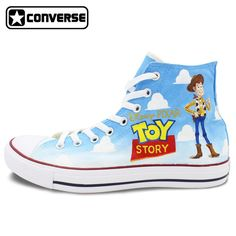 9ace9ed6acb Boys Girls Converse All Star Women Men Shoes Toy Story Classic Design Hand  Painted Shoes High