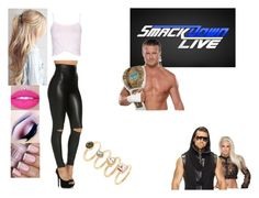 """Ringside for Dolph Ziggler VS. The Miz W/ Maryse."" by jamiehemmings19 ❤ liked on Polyvore featuring Forever 21, Jeffree Star and WWE"